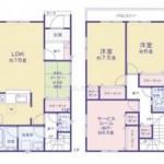 新潟市西区寺尾東の新築住宅の間取図