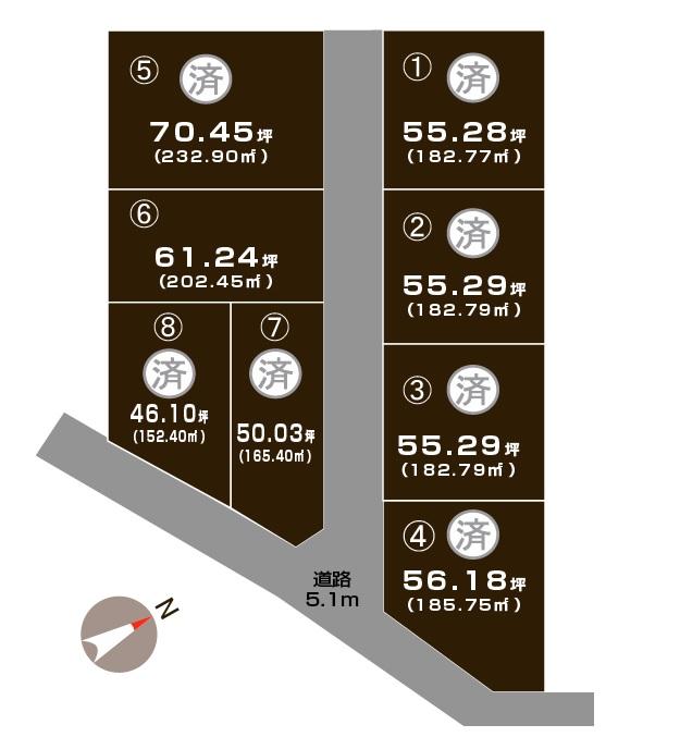 加茂市千刈の土地の敷地図