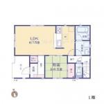 新潟市江南区所島の新築住宅の間取図