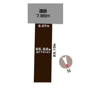 新潟市江南区稲葉の土地の敷地図