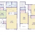 新潟市東区牡丹山の新築住宅の間取図