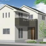 新潟市江南区元町の新築住宅の外観パース