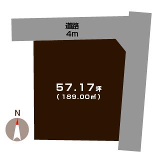 燕市分水旭町の土地の敷地図