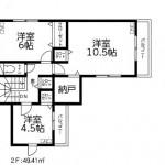 新潟市東区神明町の新築住宅の間取図