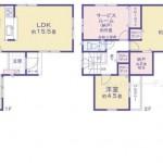 新潟市中央区大島の新築住宅の間取図