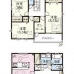 新潟市西区上新栄町の新築住宅の間取図
