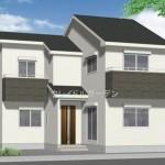 新潟市東区神明町の新築住宅の外観完成予定パース