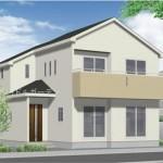 新潟市東区牡丹山の新築住宅の外観完成予定パース