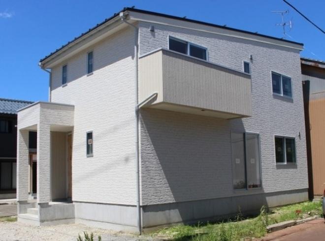 三条市南四日町の新築住宅の外観完成予定パース