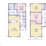 新潟市西区新中浜の新築住宅の間取図