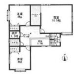 新潟市西区五十嵐三の町東の中古住宅の間取図