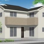 新潟市中央区大島の新築住宅の外観完成予定パース