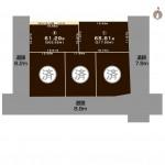 上越市大字下源入の土地の敷地図