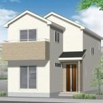 新潟市西区新中浜の新築住宅のパース