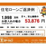 新潟市西区五十嵐三の町東の住宅ローン返済例