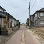 長岡市高畑町の土地の写真(前面道路)