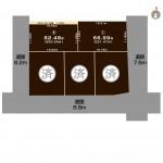 上越市大字下源入の土地の敷地図(敷地図)