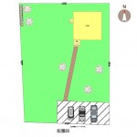 新潟市南区七軒の新築住宅の区画図