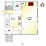 新潟市南区七軒の新築住宅の間取図