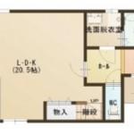 燕市南の新築住宅の間取図