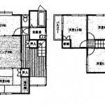 新潟市西区五十嵐中島の中古住宅の間取図
