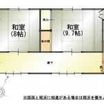 三条市中新の中古住宅の間取図2F