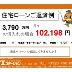 新潟市中央区信濃町の新築住宅の住宅ローン返済例