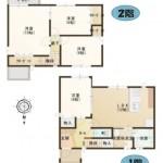 三条市諏訪の新築住宅の間取図