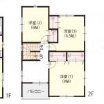 新潟市西区鳥原の新築住宅の間取り図