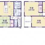 新潟市秋葉区山谷町の新築住宅の間取図