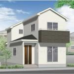 新潟市江南区横越川根町の新築住宅の外観完成予定パース