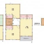 新潟市西区立仏の新築住宅の間取り図