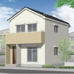 新潟市江南区亀田水道町の新築住宅の外観完成予定パース