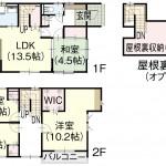新潟市西区寺尾東の新築住宅の間取り図