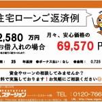 新潟市東区東明の新築住宅の住宅ローン返済例