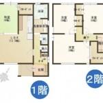 三条市西大崎の新築住宅の間取図