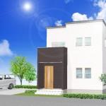 燕市吉田浜首町の土地の建物プラン例の外観パース(区画10)