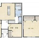 新潟市西区五十嵐西の中古住宅の間取り図