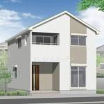新発田市大手町の新築住宅の外観完成予定パース