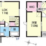 新潟市中央区女池の新築住宅の間取図