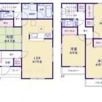新潟市中央区長潟の新築住宅の間取図