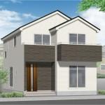 新潟市中央区長潟の新築住宅の外観完成予定パース