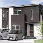 新潟市東区大形本町の土地・分譲地の外観完成予定パース