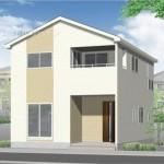 新潟市秋葉区山谷町の新築住宅の外観完成予定パース