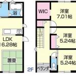 新潟市中央区信濃町の新築住宅の間取り図