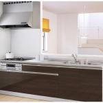 新潟市中央区長潟の新築住宅のキッチン完成予想図※実際の施工とは多少異なる場合があります。