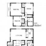 新潟市東区東明の新築住宅の間取り図