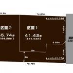 新潟市東区大形本町の土地の敷地図
