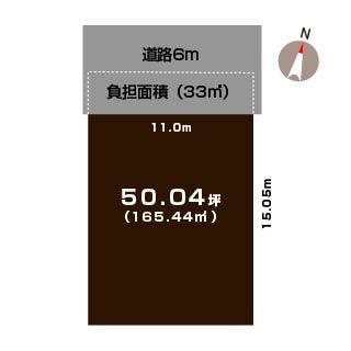 新潟市東区牡丹山の土地の区画図