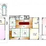 新潟市中央区白山浦の中古住宅の間取図